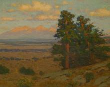 "Charles Partridge Adams, ""Huajatolla (Spanish Peaks)"", oil, c. 1915 painting for sale"