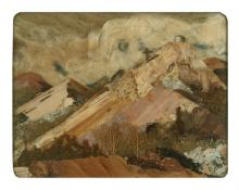 """Pansy Cornelia Stockton, """"Morada Near Chimayo (New Mexico)"""", mixed media, c. 1950"""