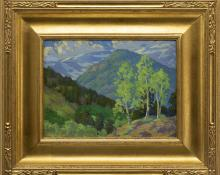 Paul K Smith Colorado Mountain Landscape oil painting fine art for sale purchase buy sell auction consign denver colorado art gallery museum