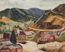 "Vance Hall Kirkland, ""Central City, Colorado"", watercolor on paper, c. 1934"