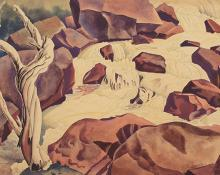 "Vance Hall Kirkland, ""Bear Creek, Colorado"", watercolor, 1935"