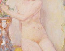 """Robert Lewis Reid, """"Opal"""", oil, c. 1922"""