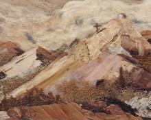 """Pansy Cornelia Stockton, """"Morada Near Chimayo (New Mexico)"""", mixed media, c. 1945"""