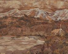 "Pansy Cornelia Stockton, ""Mount Ypsilon, Colorado"", mixed media, c. 1924"