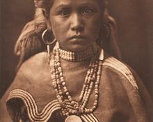 "Edward Sheriff Curtis, ""Jicarilla Maiden"", photogravure, 1906"