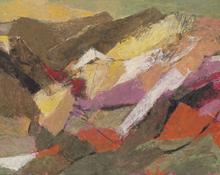 "Ethel Magafan, ""Mt. Face (Colorado)"", tempera"