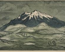 "Lawrence Barrett, ""Sopris Peak (Colorado)"", lithograph"