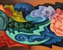 """Sushe Felix, """"Water Music"""", acrylic, 1994"""