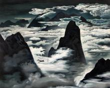 "Vance Hall Kirkland, ""Flying in Colorado"", oil, 1943"