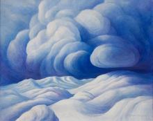 "Anna Elizabeth Keener, ""Snow Clouds (New Mexico)"", acrylic, 1970"
