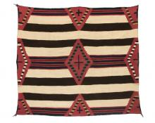 Chief's Blanket, Navajo, circa 1865   19th century Native American Indian antique vintage art for sale purchase auction consign denver colorado art gallery museum