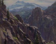 Elsie Haynes colorado women artist denver artist's guild mountain landscape painting pastel drawing
