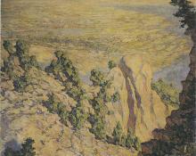"""Robert Lewis Reid, """"Broadmoor from Sublime Point"""", oil, 1920 broadmoor academy colorado springs"""