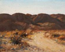"Alfred Richard Mitchell, ""Road to Cathedral Canyon"", oil, c. 1935"