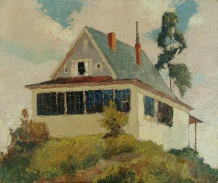 "Jon Blanchette, ""On Broadway, Santa Cruz (California)"", oil, circa 1955 painting fine art for sale purchase buy sell auction consign denver colorado art gallery museum"