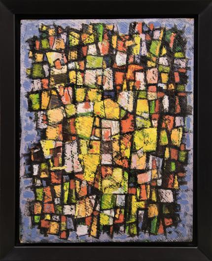 """Paul Kauvar Smith, """"Untitled (Abstract)"""", oil, c. 1955 for sale purchase consign auction denver Colorado art gallery museum"""