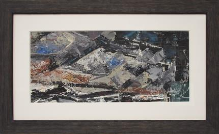 """Charles Ragland Bunnell, """"Untitled (Colorado Mountains)"""", oil, 1955 abstract colorado springs painting fine art for sale purchase buy sell auction consign denver colorado art gallery museum"""