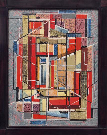 "Charles Ragland Bunnell, ""Untitled (Abstract)"", oil, 1952 painting for sale purchase auction consign denver colorado art gallery museum"