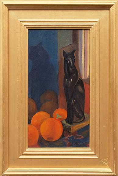 "Margaret Tee, ""Still life with objects"", oil, c. 1930 for sale purchase consign auction denver Colorado art gallery museum"
