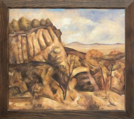 """John Edward Thompson, """"Untitled (Colorado Mesa)"""", oil, c. 1935 painting fine art for sale purchase buy sell auction consign denver colorado art gallery museum"""