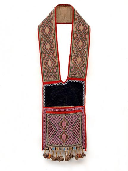 Bandolier Bag, Chippewa (Ojibwa), circa 1890 19th century Native American Indian antique vintage art for sale purchase auction consign denver colorado art gallery museum