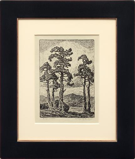 "Birger Sandzen, ""The Edge of the Forest; edition of 50"", lithograph, 1919 for sale purchase consign auction denver Colorado art gallery museum"