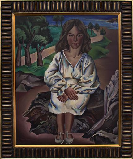"Peppino Mangravite, ""Dora"", oil, 1928 painting fine art for sale purchase buy sell auction consign denver colorado art gallery museum"