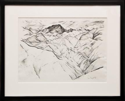 "Ross Braught, ""Clear Creek Canyon I"", lithograph, 1933 painting fine art for sale purchase buy sell auction consign denver colorado art gallery museum"