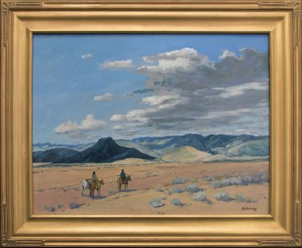 "John Modesitt, ""Midday Journey"", oil, contemporary painting fine art for sale purchase buy sell auction consign denver colorado art gallery museum"
