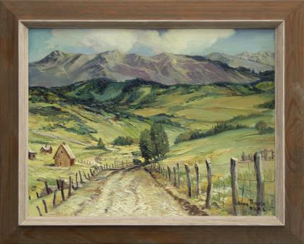 """Lillian Thoele, """"Airstrip Road - Mt. Telluride, Colorado"""", oil painting for sale purchase auction consign denver colorado art gallery museum"""