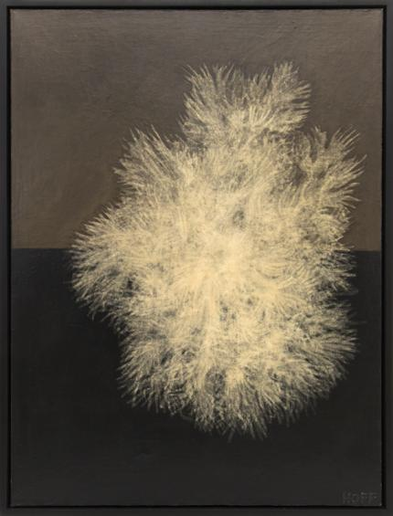 """Margo Hoff, """"Sea Plant"""", mixed media, 1961 painting fine art for sale purchase buy sell auction consign denver colorado art gallery museum"""