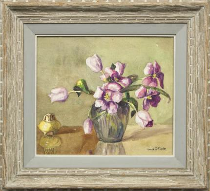 "Irene Fowler, ""Untitled (Still Life)"", watercolor painting"
