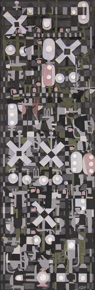 """Margo Hoff, """"Untitled"""", mixed media, circa 1968 abstract painting fine art for sale purchase buy sell auction consign denver colorado art gallery museum"""