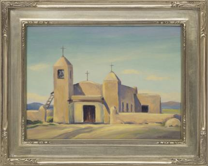 Small church taos new mexico david cook galleries for Small paintings that sell