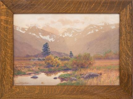 Charles Partridge Adams Autumn Afternoon Estes Park (Moraine Park, Colorado fine art for sale purchase buy sell auction consign denver colorado art gallery museum