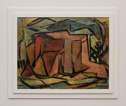 "Sara Lindemuth Uffelman, ""Rancho de Taos (New Mexico)"", oil, 1954 painting fine art for sale purchase buy sell auction consign denver colorado art gallery museum"