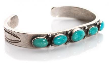 navajo old pawn cuff bracelet vintage 1950s native american jewelry turquoise silver denver for sale