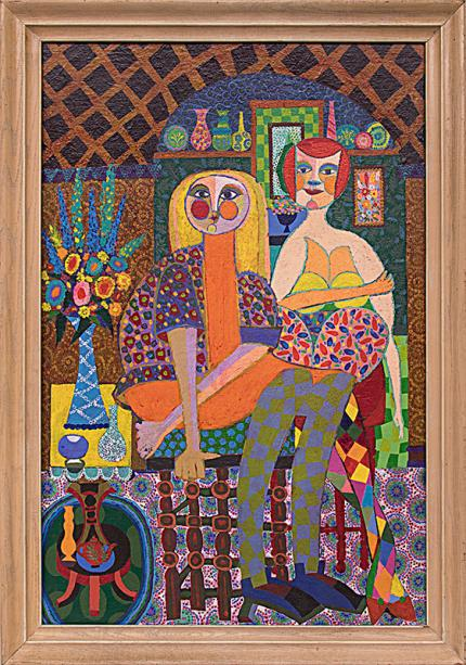 "Edward Marecak, ""Friends"" 1970s oil painting fine art for sale purchase buy sell auction consign denver colorado art gallery museum"