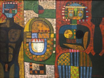 "Edward Marecak, ""The Return Of Ulysses"", oil, 1960"