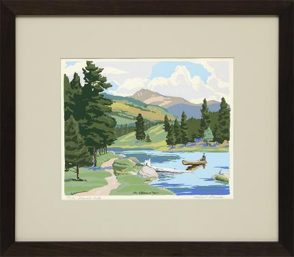 "Alfred Wands, ""Colorado, 52/150"", print for sale purchase consign auction denver Colorado art gallery museum Rocky Mount"