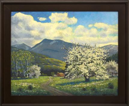 "Harold Vincent Skene, ""Apple Tree"", oil, 1959 for sale purchase consign auction denver Colorado art gallery museum"