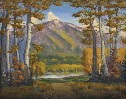 "Harold Vincent Skene, ""Mt. Sopris (Colorado)"", oil, 1968 for sale purchase consign auction denver Colorado art gallery museum"
