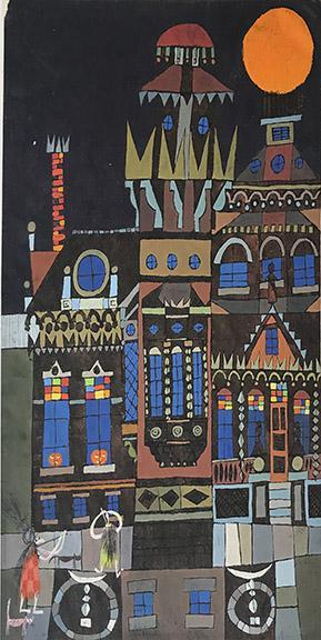 edward marecak, modernist painting for sale, palace, denver artist, mid-century modern art