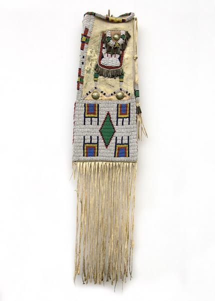 Tobacco Bag, Sioux, circa 1885 pipe bag strike-a-lite strike a light  19th century Native American Indian antique vintage art for sale purchase auction consign denver colorado art gallery museum