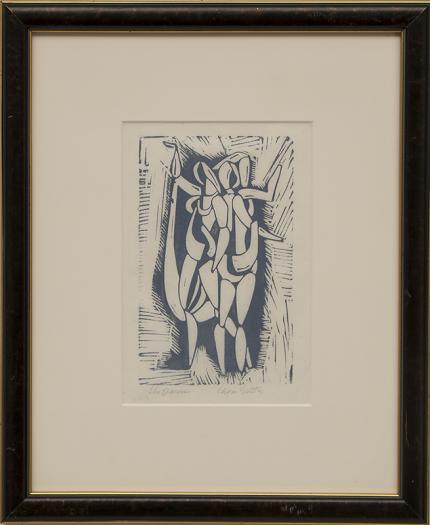 """Edgar Britton, """"The Dancer"""", woodcut woodblock print painting fine art for sale purchase buy sell auction consign denver colorado art gallery museum"""