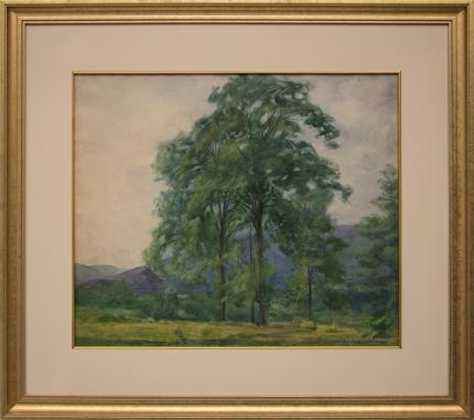 "Elisabeth Spalding, ""Storm in Deer Valley"", watercolor, 1921 painting fine art for sale purchase buy sell auction consign denver colorado art gallery museum"