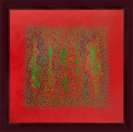 """Vance Kirkland """"Space No. 3"""" 1966 oil painting fine art for sale purchase buy sell auction consign denver colorado art gallery museum"""