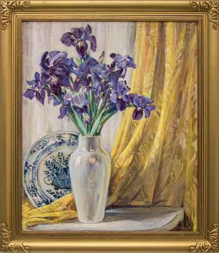 "Joseph Imhof, ""Untitled (Still Life with Iris)"", oil painting fine art for sale purchase buy sell auction consign denver colorado art gallery museum"