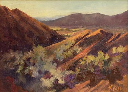 Betty Kirin Oliver red rocks colorado impressionist oil painting women artist american west landscape mountain