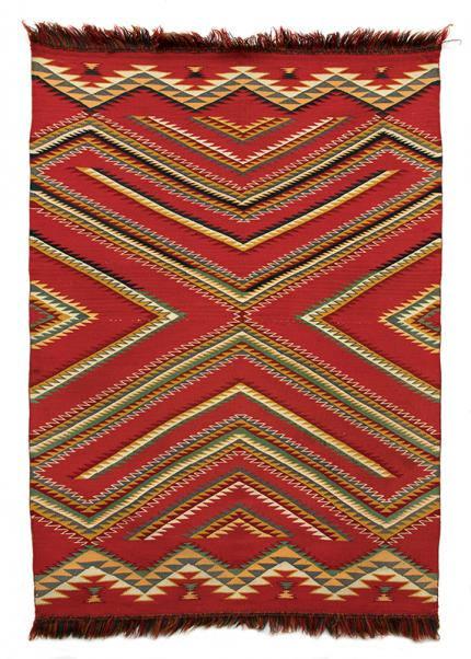 navajo rug germantown eye-dazzler 1880s 19th century Native American Indian antique vintage art for sale purchase auction consign denver colorado art gallery museum